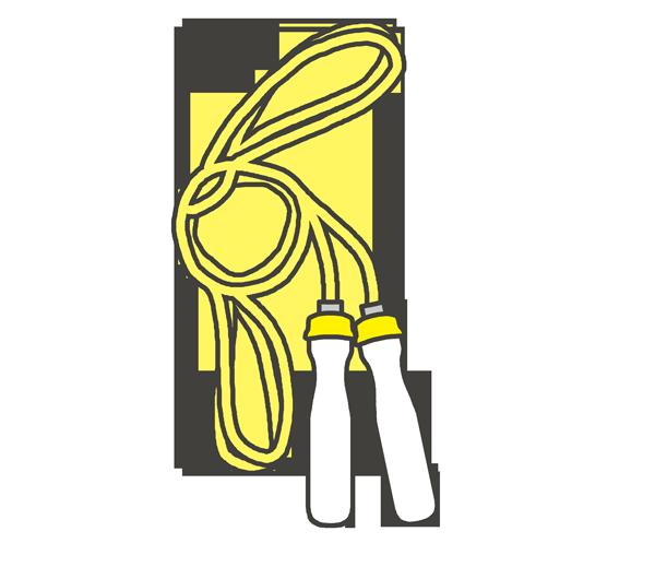 縄跳びのイラスト