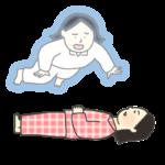幽体離脱のイラスト(女性)