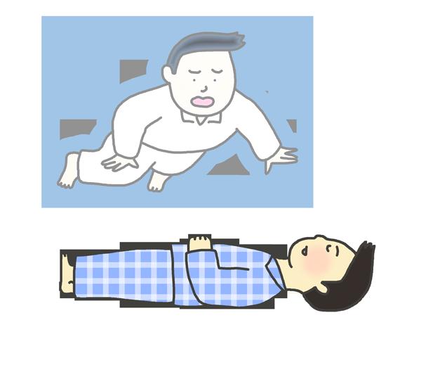 幽体離脱のイラスト(男性)
