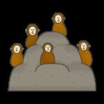 猿山のイラスト