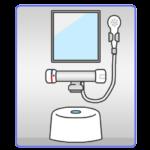 お風呂の洗い場のイラスト