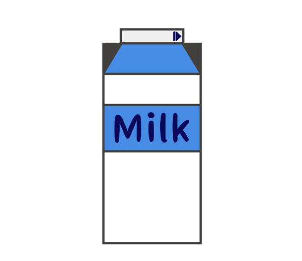 牛乳のイラスト