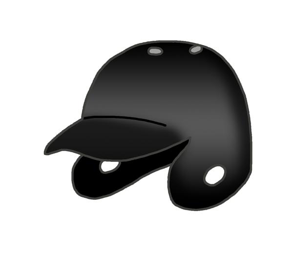 野球のヘルメットのイラスト