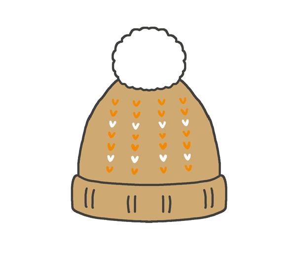 ニット帽のイラスト