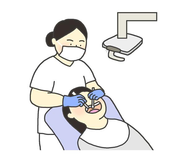 歯医者のイラスト(女性)