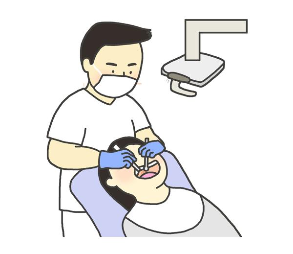 歯医者のイラスト(男性)