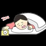 二度寝のイラスト(女性)
