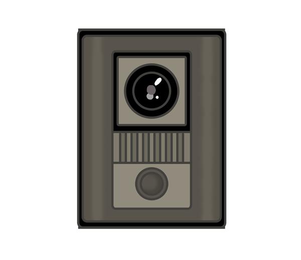 カメラ付きインターホンのイラスト