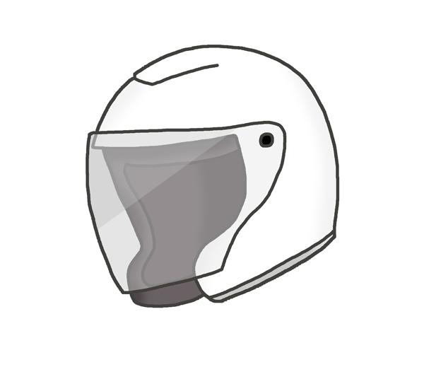 バイクヘルメットのイラスト(ジェット)