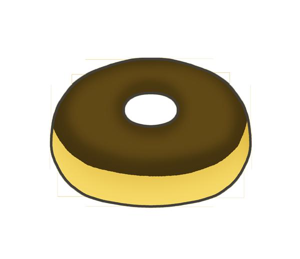 ドーナツのイラスト(チョコ)