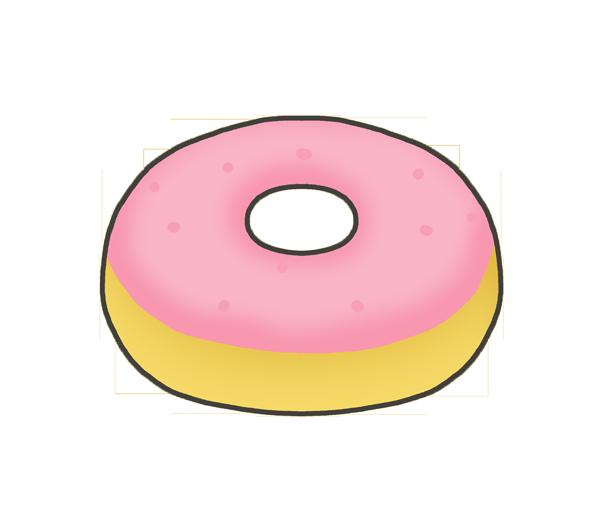 ドーナツのイラスト(ストロベリー)