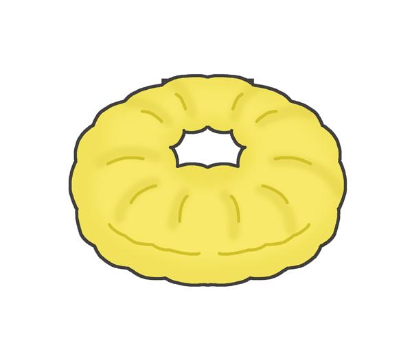 ドーナツのイラスト(フレンチクルーラー)
