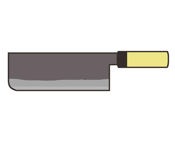 菜切包丁のイラスト