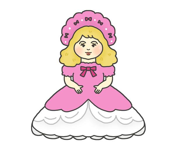フランス人形のイラスト