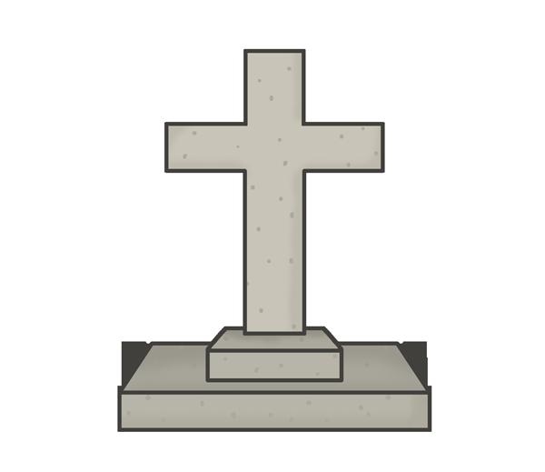 キリスト教のお墓のイラスト
