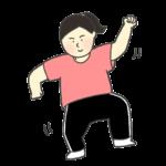 ダンスをする女性のイラスト