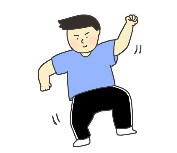 ダンスをしている男性のイラスト
