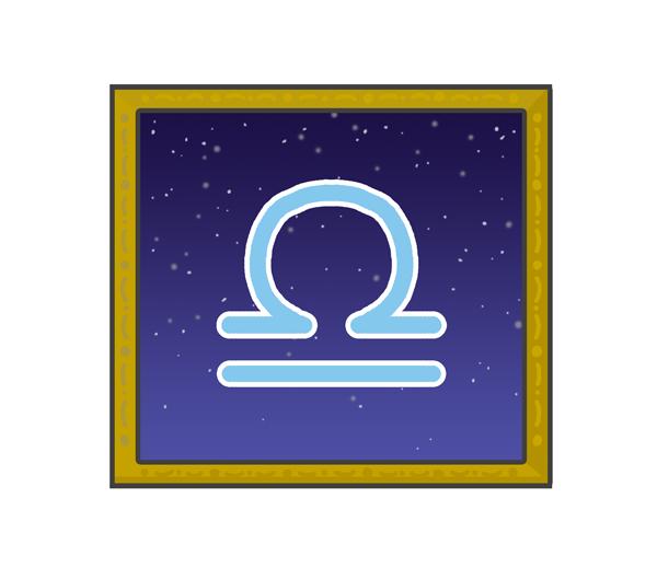 天秤座のシンボルイラスト