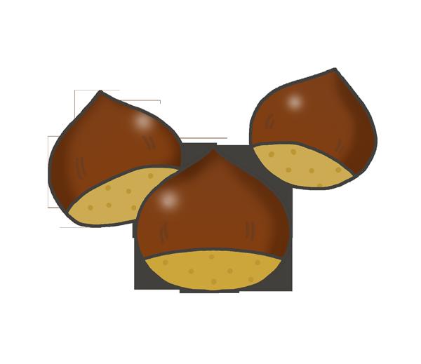 栗のイラスト