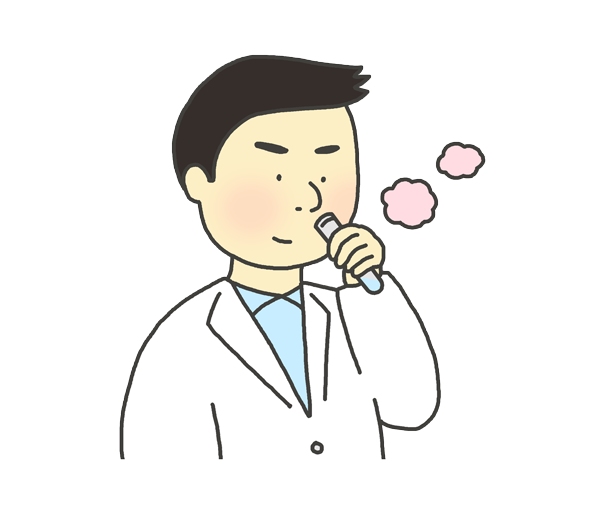 臭気判定士のイラスト(男性)