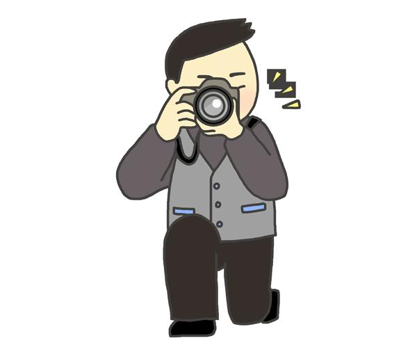 カメラマンの男性のイラスト