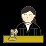 女性裁判官のイラスト