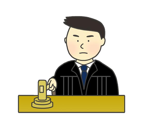 裁判官のイラスト(男性)