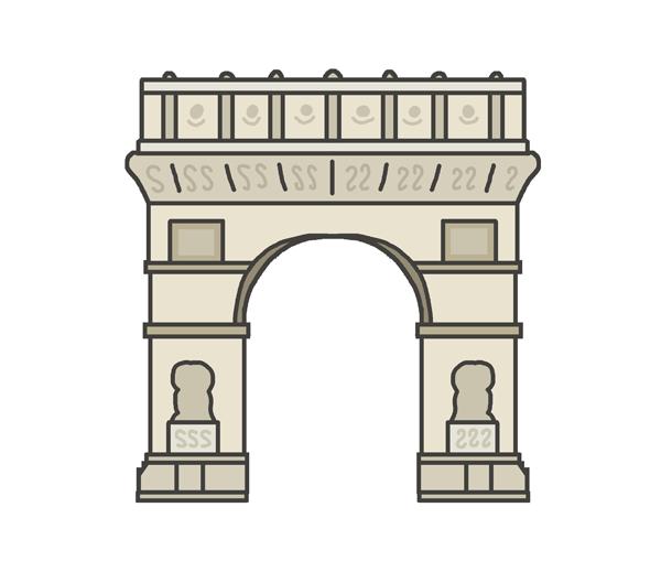 凱旋門のイラスト