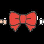 リボンの飾りラインのイラスト