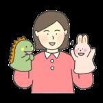 人形劇のイラスト(女性)