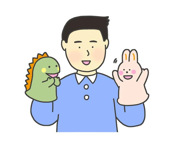 人形劇のイラスト(男性)