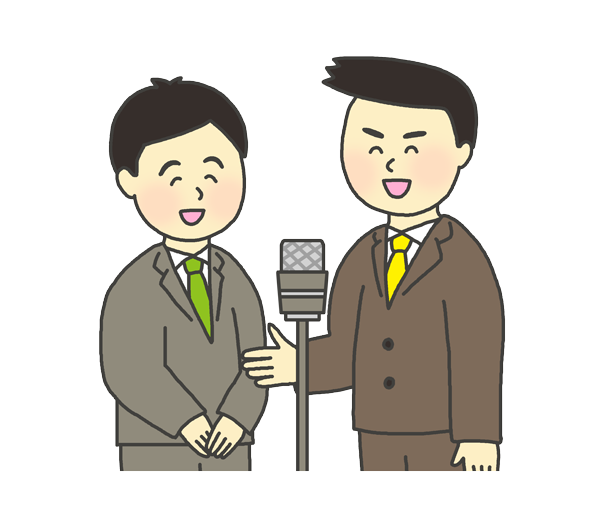 漫才師のイラスト(男性)