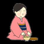 茶道のイラスト(女性)