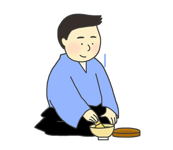 茶道のイラスト(男性)