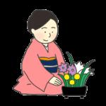 華道のイラスト(女性)