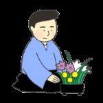 華道のイラスト(男性)