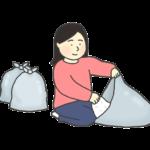 ゴミ捨てのイラスト(女性)