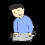 足がしびれている男性のイラスト