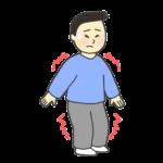 筋肉痛のイラスト(男性)