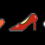ハイヒールと口紅のライン素材