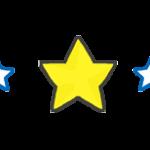 星の飾りラインのイラスト素材