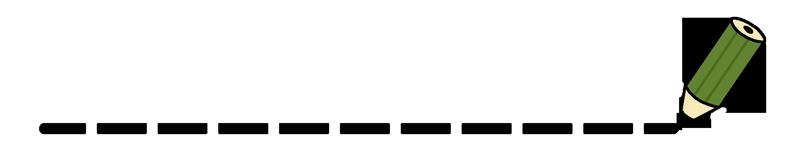 鉛筆の飾りラインのイラスト(点線)