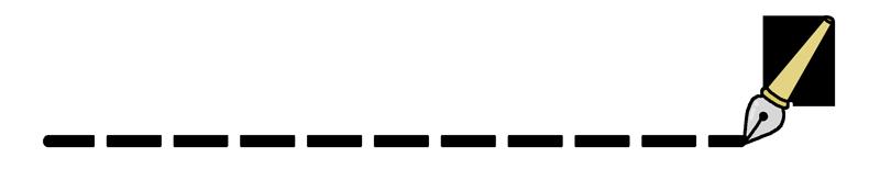 万年筆の飾りラインのイラスト(点線)