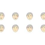 おじいさんの表情のイラスト