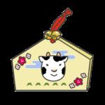 牛の絵馬のイラスト