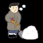 雪かきのイラスト(男性)
