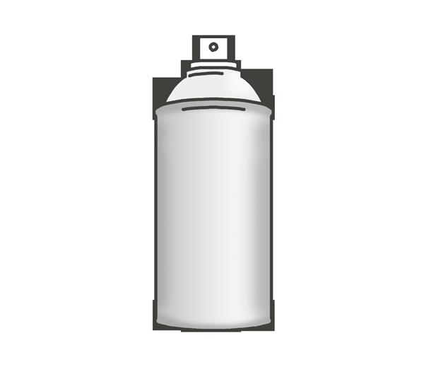 スプレー缶のイラスト