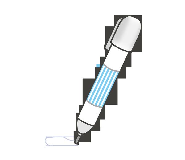 修正ペンのイラスト