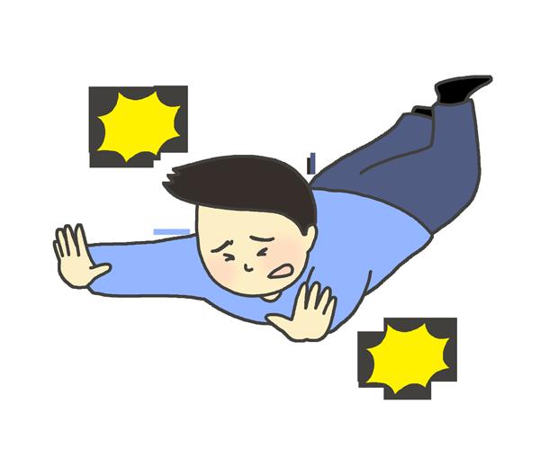 転ぶ男性のイラスト