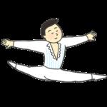 バレエダンサー(男性)のイラスト